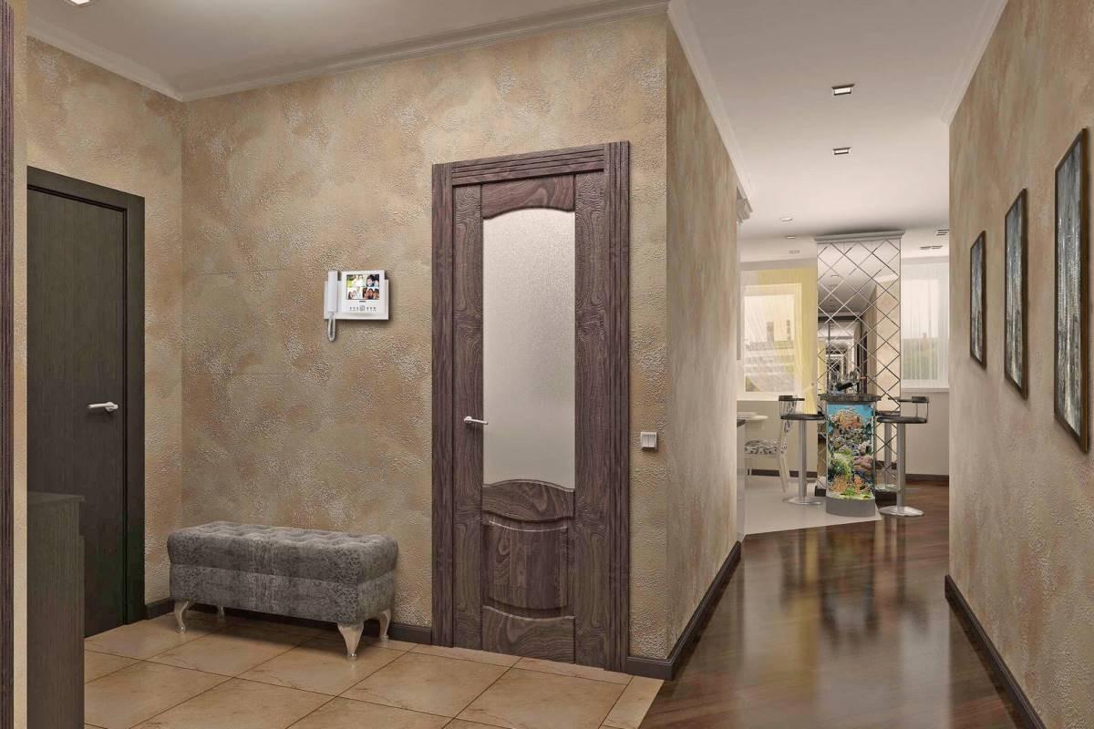 Венецианская штукатурка в интерьере большой квартиры