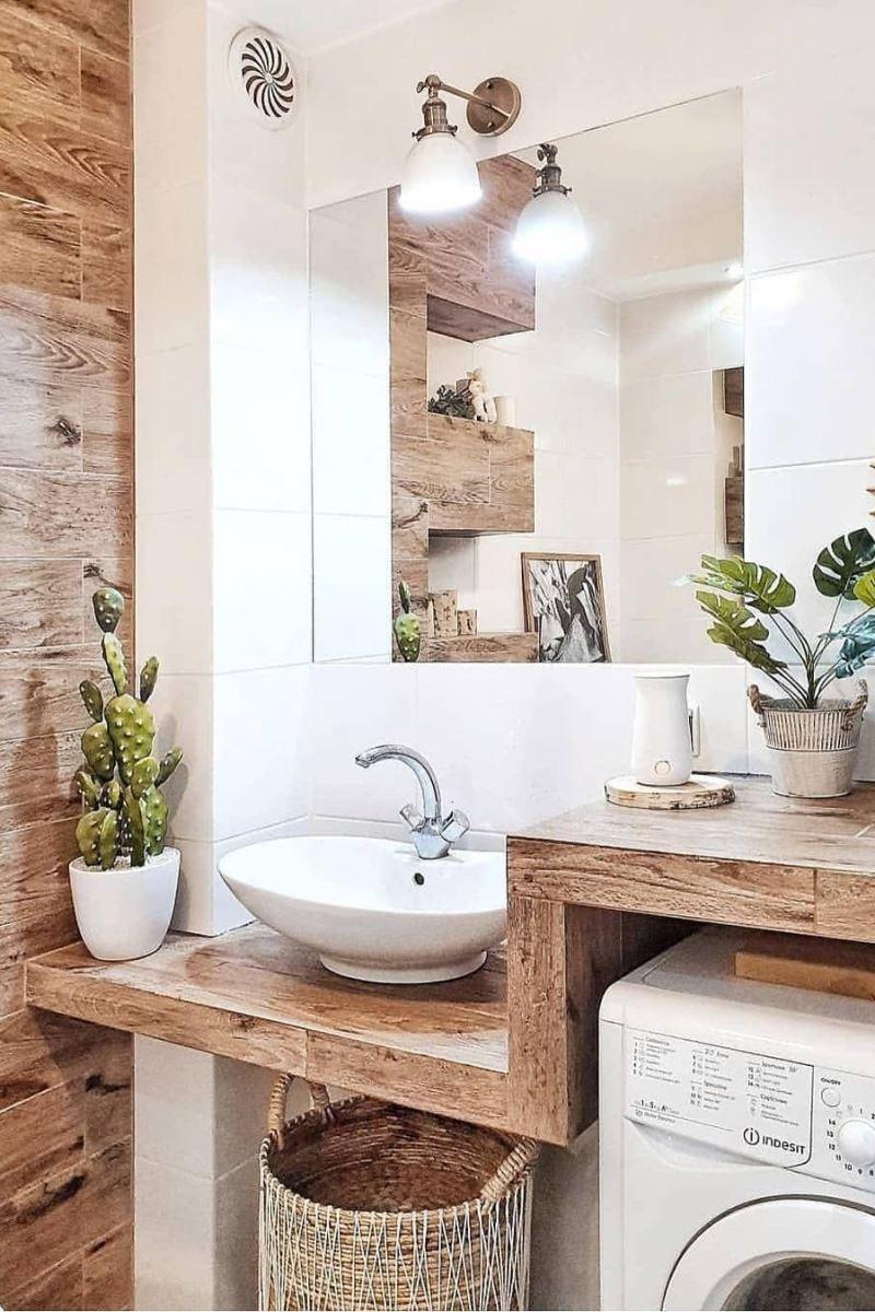 Эко-стиль в дизайне ванной комнаты - часть 2