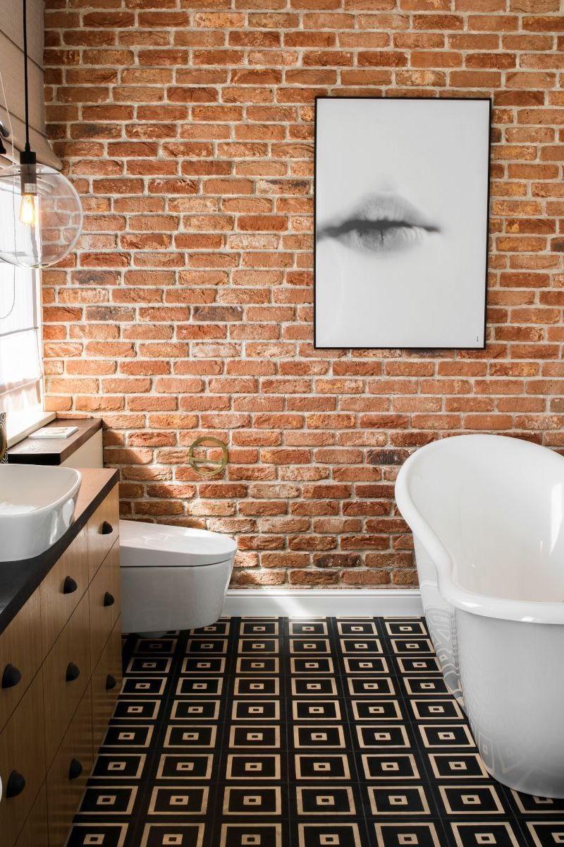 Дизайн стен в ванной комнате в стиле лофт - часть 2