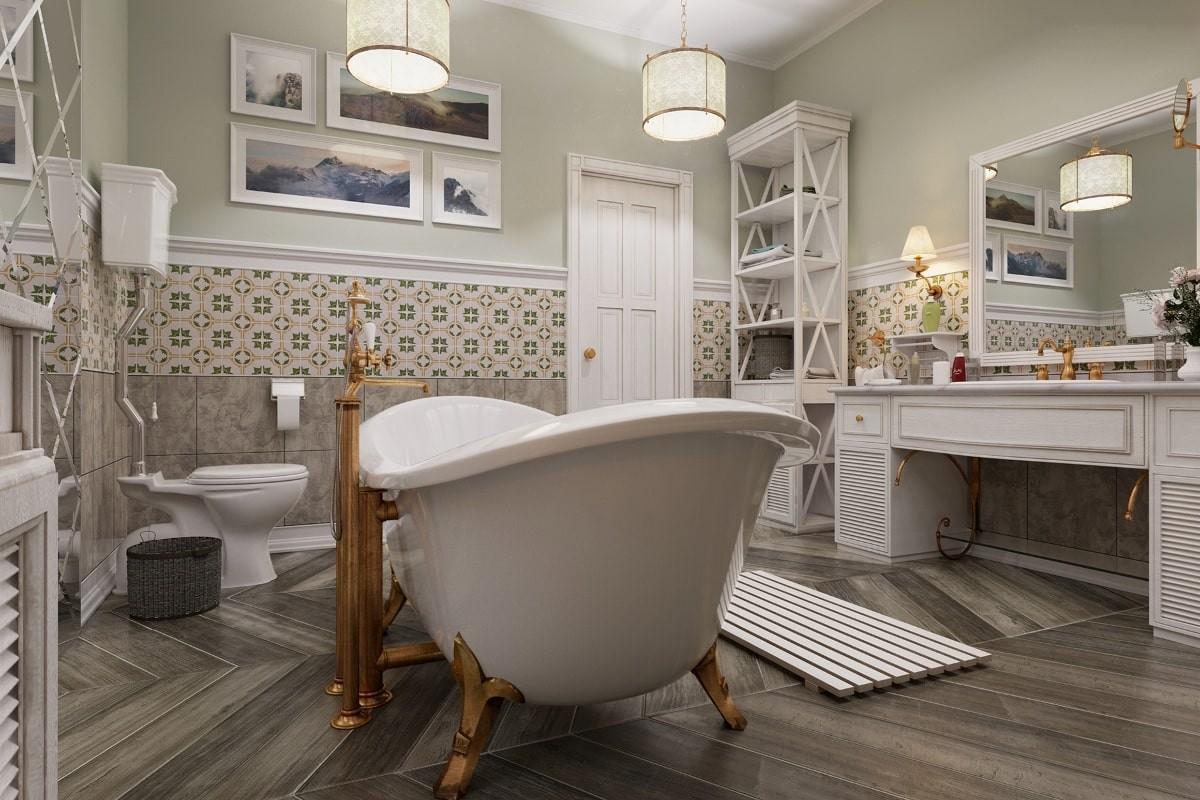 Стиль прованс в дизайне ванной комнаты