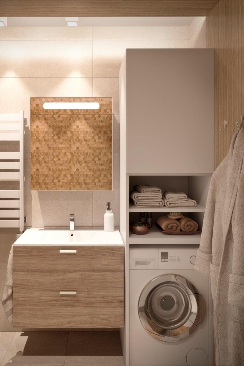 Установка стиральной машины в маленькой ванной комнате - часть 2