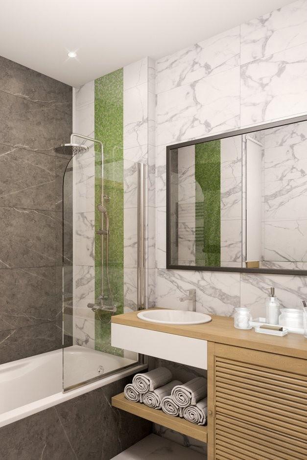 Светлые тона в интерьере маленькой ванной комнаты - часть2