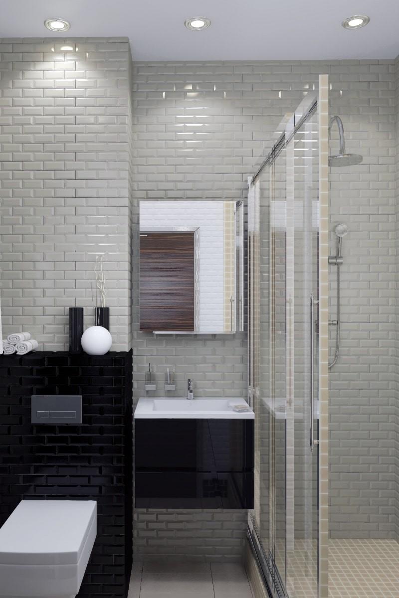 Дизайн маленькой ванной комнаты, совмещенной с туалетом - часть 2