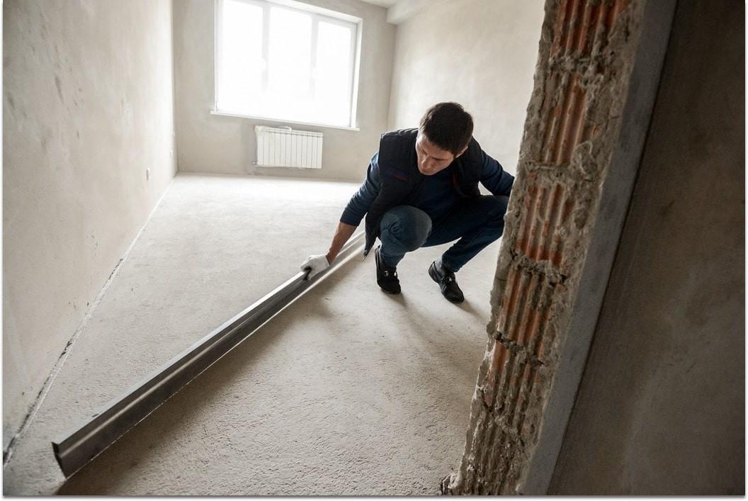 Проверка состояния пола в квартире